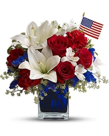 America the Beautiful by Teleflora Flower Arrangement