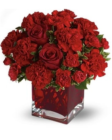 Teleflora's Precious Love - Deluxe with Red Roses Flower Arrangement