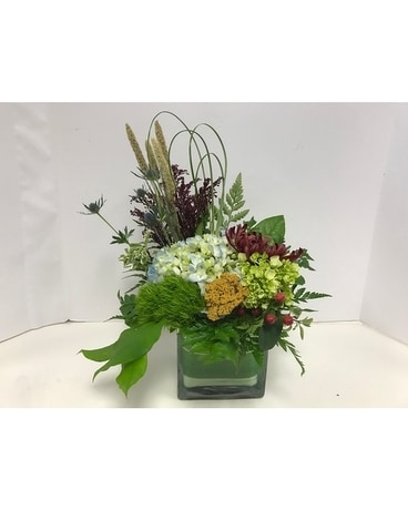Autumn Delight Cube Flower Arrangement