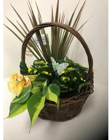 Basket Of Joy Flower Arrangement