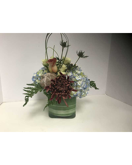 Cape Cod Fall Cube Flower Arrangement
