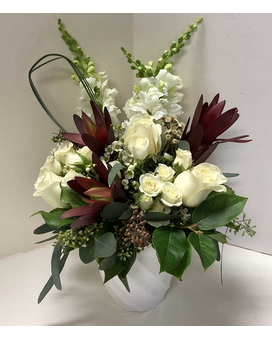 Exotic Whites Flower Arrangement