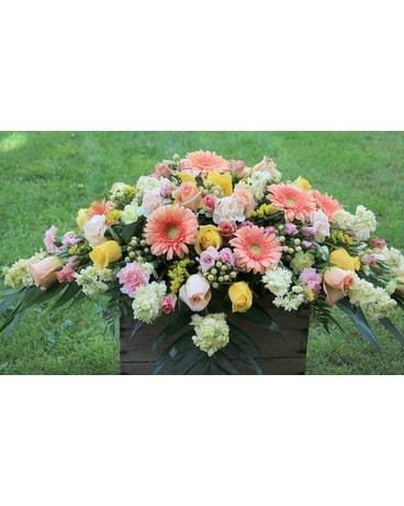 Soft Elegance Casket Spray Funeral Casket Spray Flowers