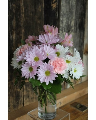 Pastel Valentine Flower Arrangement