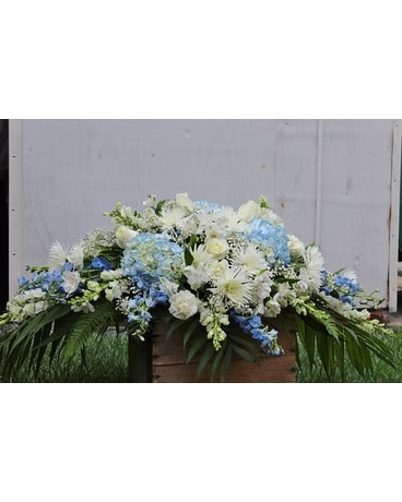 Sea foam Casket Spray Flower Arrangement