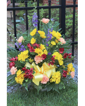 A Bright & Bold Life Funeral Arrangement