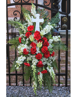 Standing Cross Sympathy Arrangement
