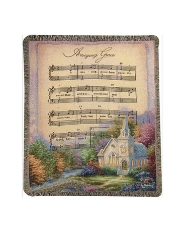 Church in the Country/Amazing Grace throw