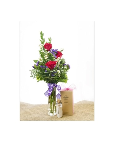 Roses with Willow Tree Figurine