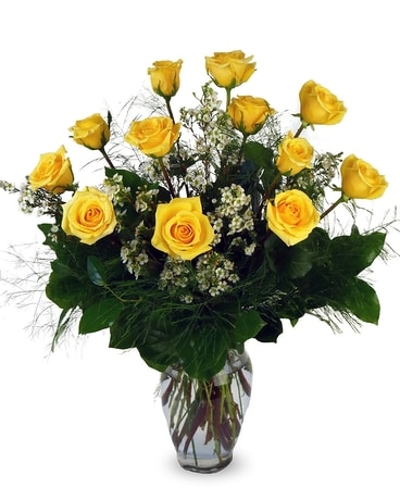 Roses - One Dozen Yellow
