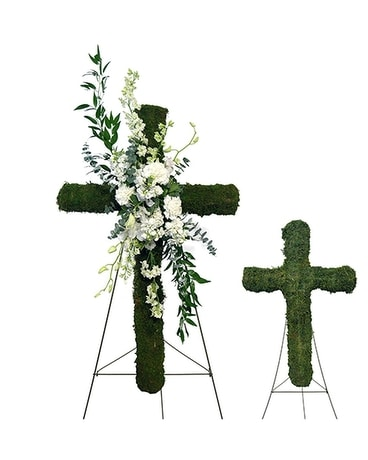 Eternal Garden Cross Easel Specialty Arrangement