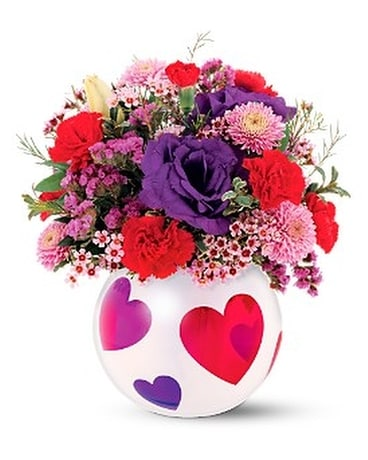 Teleflora's Precious Hearts Bouquet Flower Arrangement