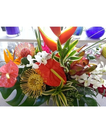 Tropical Centerpiece Flower Arrangement