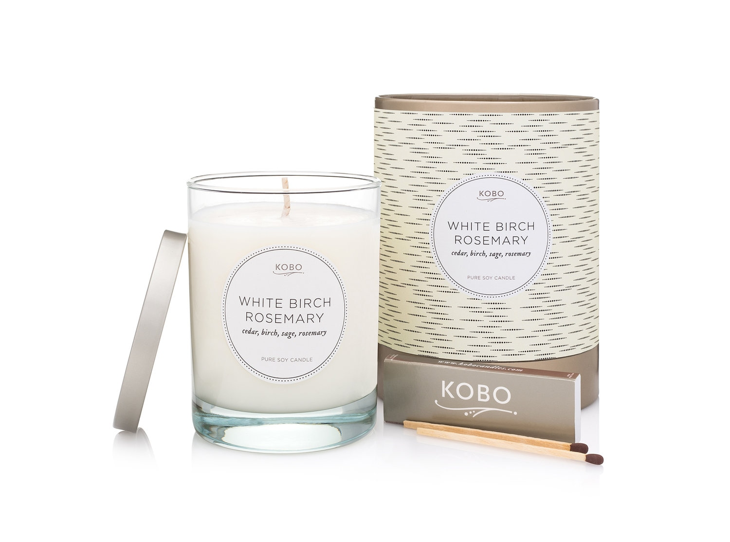 Kobo White Birch Rosemary Candle