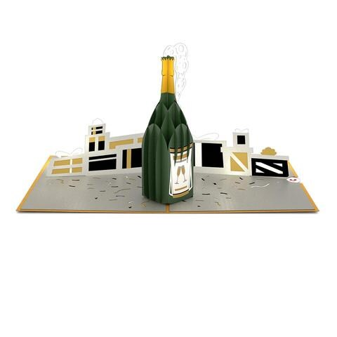 LovePop 3D Paper Sculpture Champagne Celebration Card