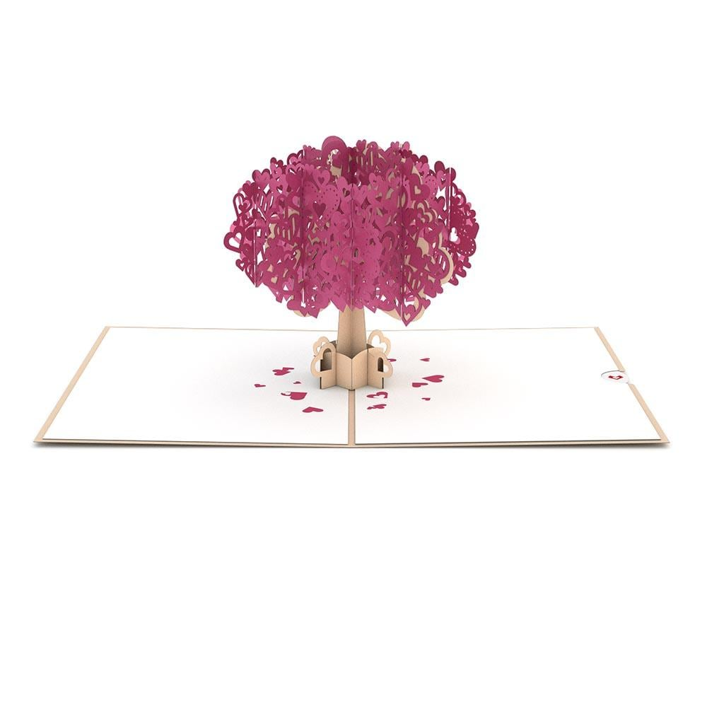 LovePop 3D Paper Sculpture Heart Tree Card