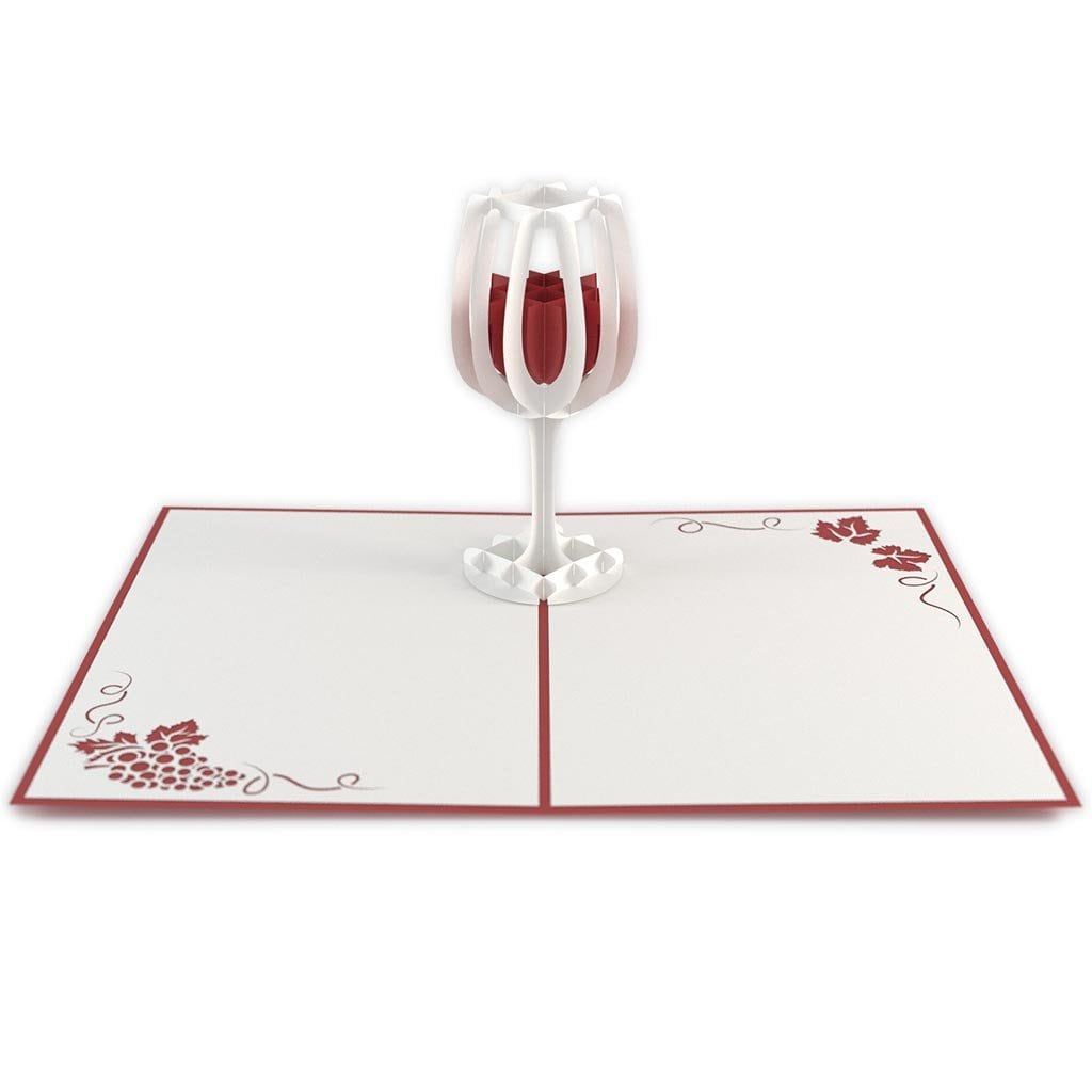 LovePop 3D Paper Sculpture Wine Glass Card