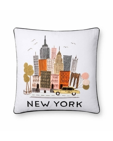 Rifle New York Embroidered Pillow Gifts