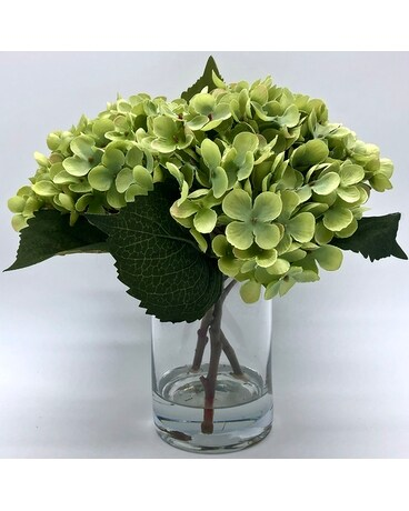 Artificial Hydrangea in Glass (small) Gifts