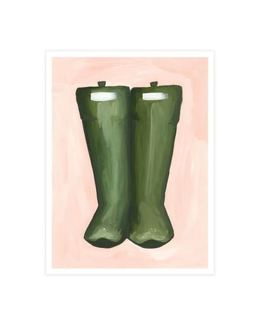 Rain Boots Poster Print Gifts