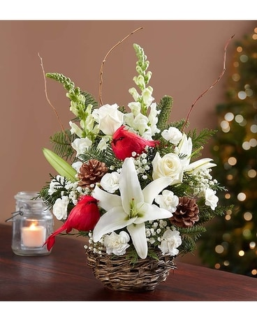 Winter Songbird Flower Arrangement