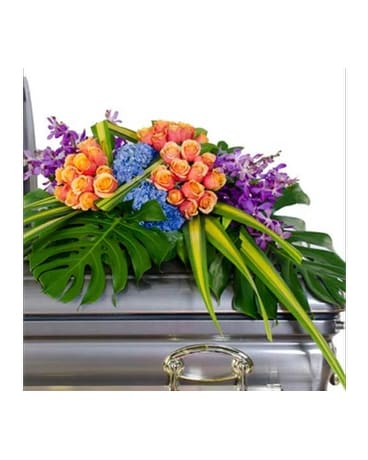 Radiance Casket Spray Flower Arrangement