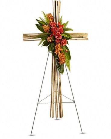 River Cane Cross Flower Arrangement