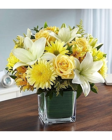 Healing Tears™ Yellow & White Flower Arrangement