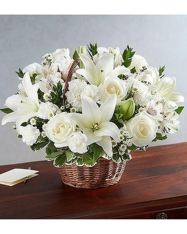 Peace, Prayers & Blessings™ All White Flower Arrangement