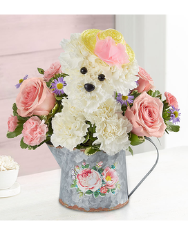 Precious Pup Flower Arrangement