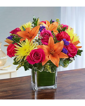 Healing Tears™ Multicolor Bright Flower Arrangement