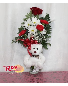 Snugly Bear Bouquet Flower Arrangement