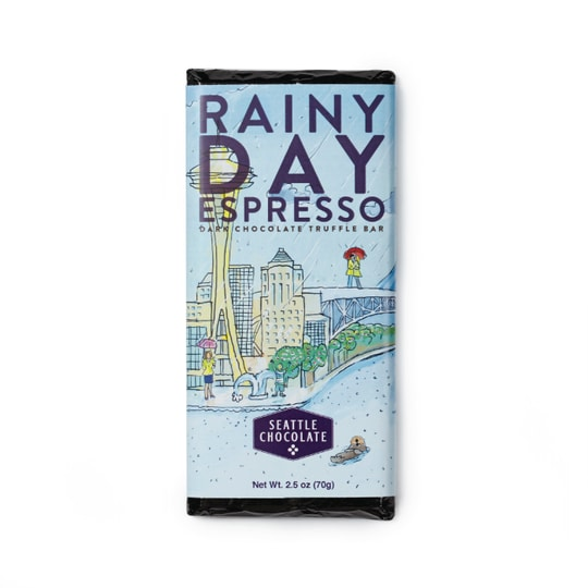 Rainy Day Espresso - Dark Chocolate Truffle Bar