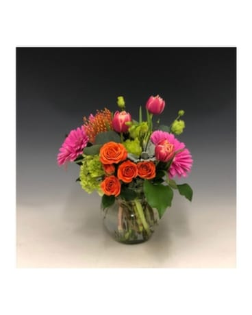 Pop of Color Flower Arrangement