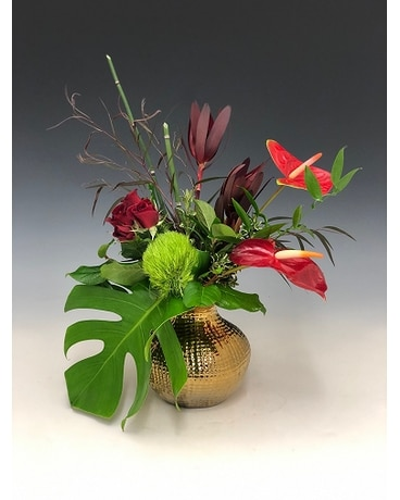 Golden Romance Flower Arrangement