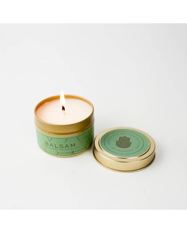 Bisby Balsam Soy Holiday Tin Jar Candle