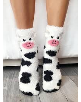 Living Royal Fuzzy Cow Crew Socks Gifts