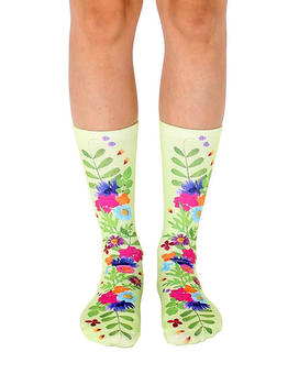 Living Royal Pressed Flower Crew Socks Gifts