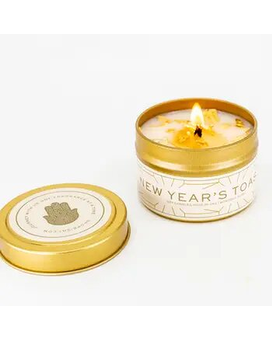 Bisby Champagne Toast Tin Candle Jar Candle