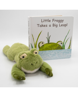 Little Froggy Takes a Big Leap Book with Froggy Gifts