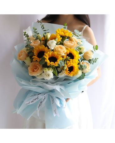 Delightful Sunshine Flower Arrangement