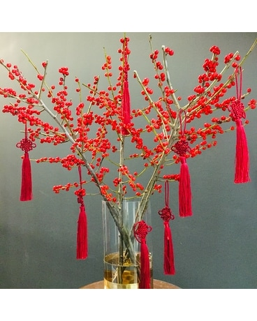 Rouge Ilex Berry Cheer Specialty Arrangement