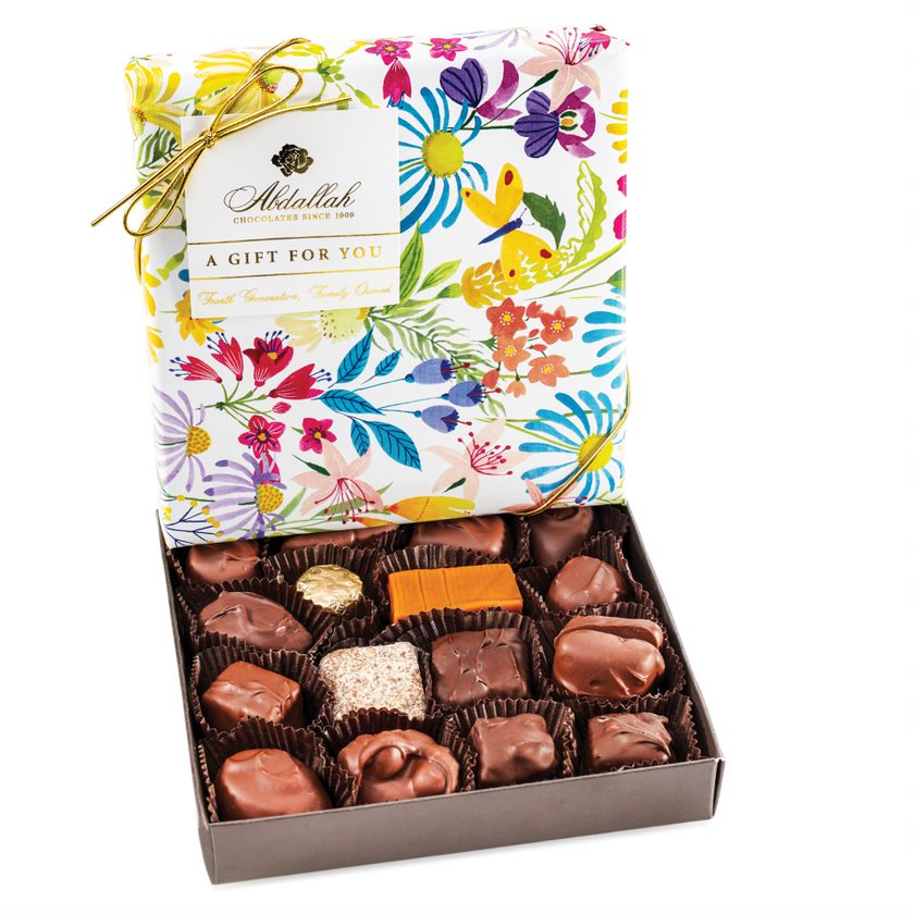 Large Chocolate Assortment In Floral Wrap