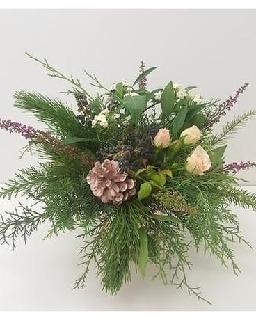 Nature In Pine Flower Arrangement