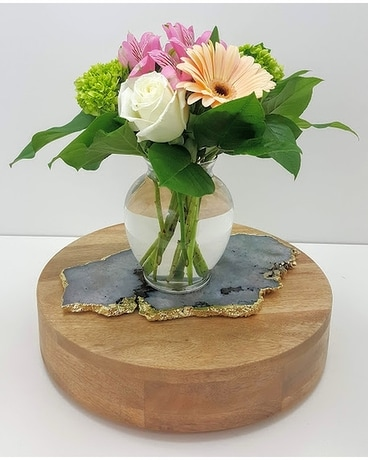 Glass Garden Flower Arrangement