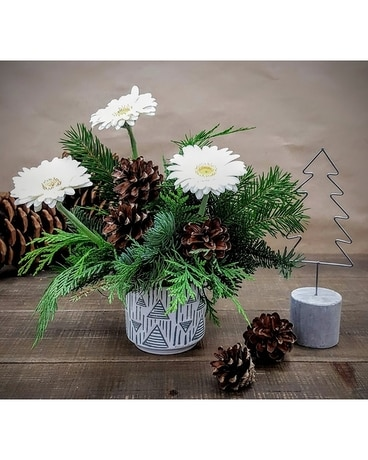 White Russian Flower Arrangement