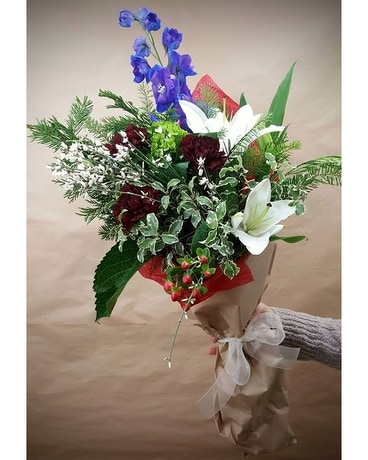 Berry White Flower Arrangement