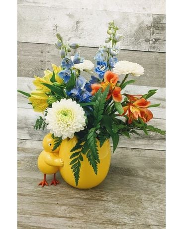 Chickadee Flower Arrangement