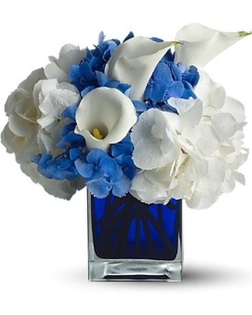 Teleflora's Waves of Blue Flower Arrangement