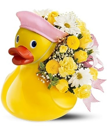 Teleflora's Just Ducky Bouquet - Girl Flower Arrangement